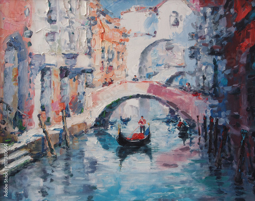 Art Oil Painting Picture Venice Italy © shvets_tetiana