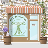 Bio products shop. Organic products store.