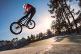 Fototapety High BMX jump