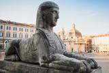 Sphinx on Piazza del Popolo, Rome, Italy