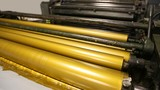 Golden ink printer rollers offset industry traditional machine