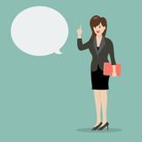 Business woman talking