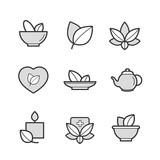 Set of Alternative Medicine, herb Icons