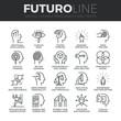 Постер, плакат: Human Personality Futuro Line Icons Set