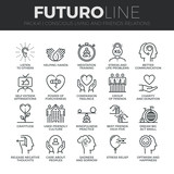Conscious Living Futuro Line Icons Set