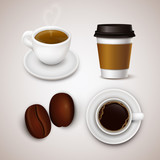Fototapety Vector coffee drinks collection.