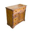 Old italian wooden dresser on white background