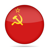 button with flag of Soviet Union