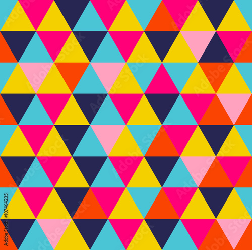 obraz PCV Colorful triangle geometric seamless pattern
