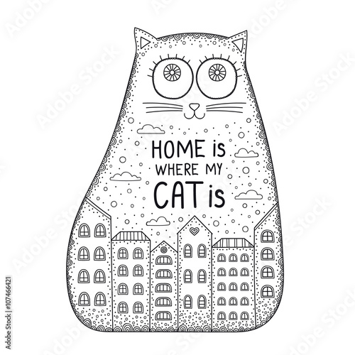 Plakát Home Is Where The Cat Is