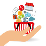Shopping online design , vector illustration