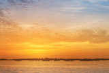 Sunset over Arousa Island