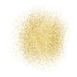 Gold sparkles on white background.