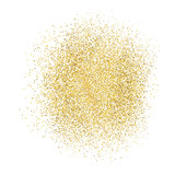 Gold sparkles on white background.