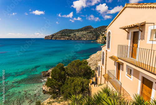 Beautiful mediterranean bay with sea view Plakat