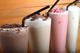 four types of milkshake drink