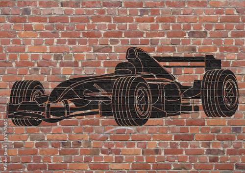Naklejka Street art, Voiture de course Formule 1