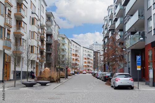 Aluminium Stockholm Stockholm, Sweden - March, 19, 2016: multystoried inhabited buildings in Stockholm, Sweden