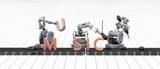 De muziekindustrie - concept van robots die muziek maken