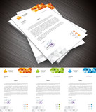 Letterhead.File contains text editable AI, EPS10,JPEG and free font link used in design.