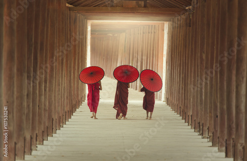 The boys of buddhist monks Plakat