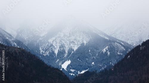 The misty Alps