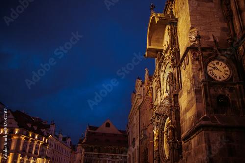Beautiful Prague medieval town landscape, travel location, build Poster