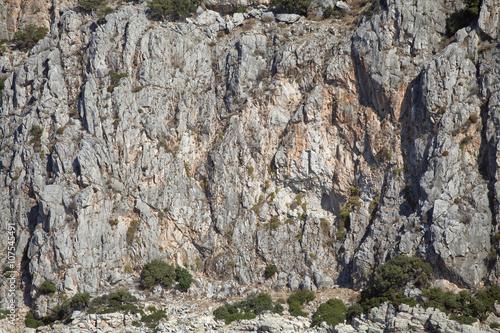 Vertical cliff wall