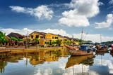 Wooden boats on the Thu Bon River, Hoi An (Hoian), Vietnam