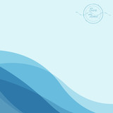 Vector illustration of sea time