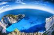 Obrazy na płótnie, fototapety, zdjęcia, fotoobrazy drukowane : Navagio beach with shipwreck on Zakynthos island in Greece