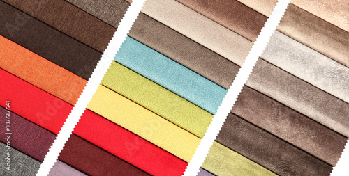 Many textile materials variety shades of colors horizontal - 107617641