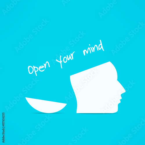 Open your mind design. Free your mind. Creative concept © Mikael Miro