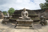 "A view of the ""Terrace of the Tooth Buddha"" in the archaeological complex of Polonnaruwa. Sri Lanka"