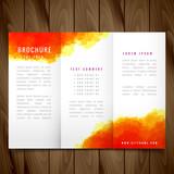 modern watercolor trifold brochure design illustration