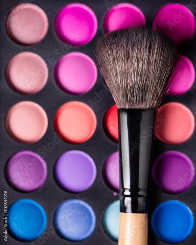 Obraz na Szkle Eyeshadow Palette and brush