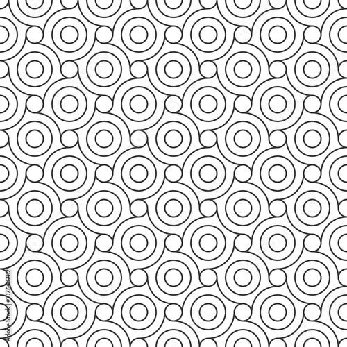 mata magnetyczna Seamless Geometric Pattern. Regular Tiled Ornament. Vector.