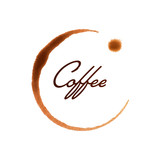 Vector Illustration of a Coffee Cup Stain