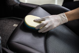 Car detailing series : Cleaning car seat - 107692465