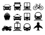 Fototapety Vehicle and transportation icon set