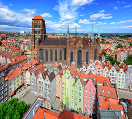 Saint Mary's Cathedral in the old town of Gdansk, Poland