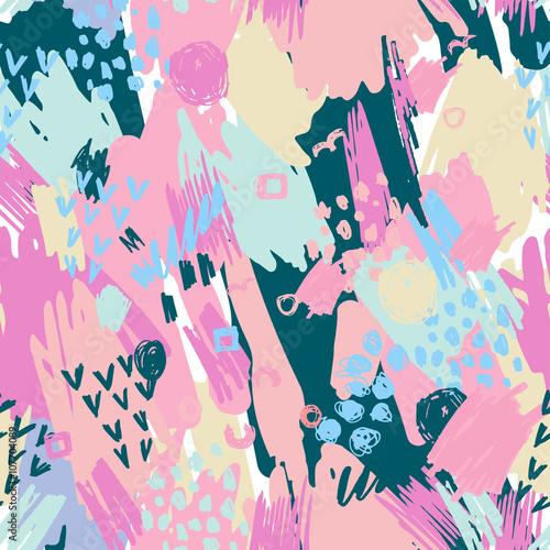 Fototapeta Seamless Pattern with Grunge Elements.