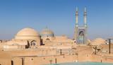 Jameh Mosque, Masjed-i Jame' Mosque, Yazd, Iran. Panorama.