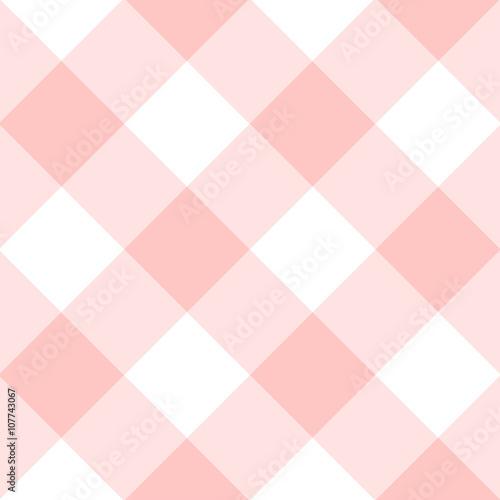 Rose Quartz White Diamond Chessboard Background Vector Illustration - 107743067