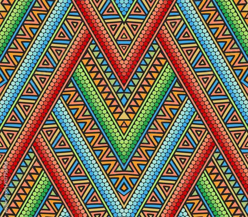 Materiał do szycia Jasny wzór etnicznych z geometrycznym wzorem