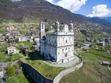 Tresivio - Valtellina (IT) - Santuario della Santa Casa Lauretana (1646) - vista aerea lato ovest