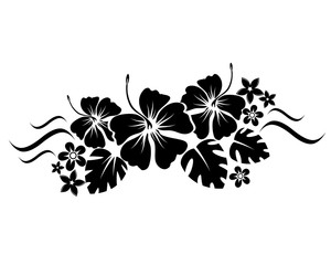abstract floral composition for design