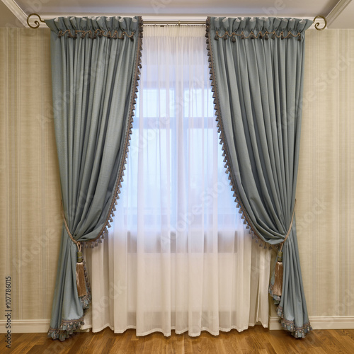 Foto Murales window decoration curtains