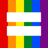 Vertical Rainbow flag with equality sign