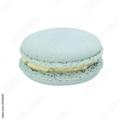 Macaron dessert with mint flavour